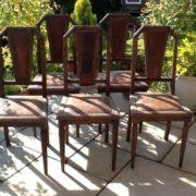 5 Stühle, Antiquität, Holzstuhl, Jugendstil, Stuhl