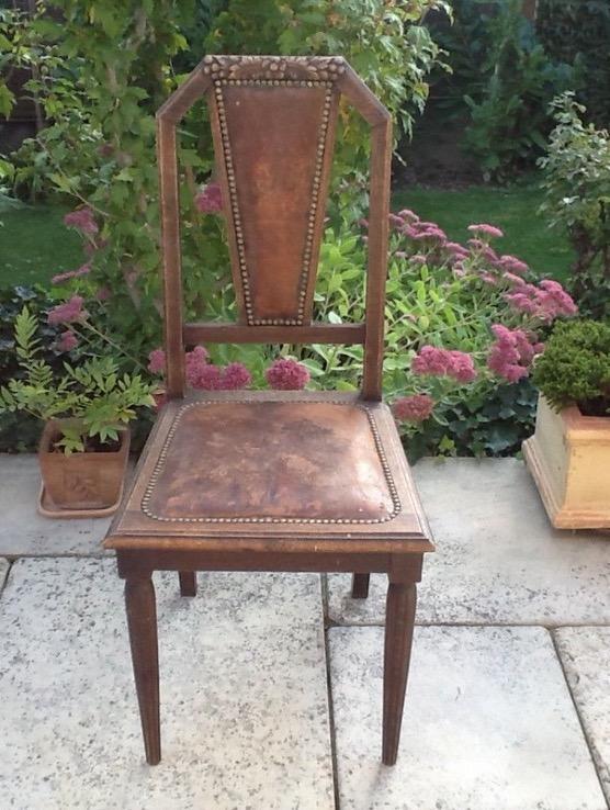 5 Antike Holzstühle Jugendstil Troedelmoebel