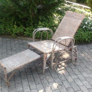 Antiker Liegestuhl, Deckchair
