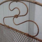 Antikes Eisenbett, Tagesbett, Kinderbett