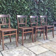 4 Holzstühle/ Sitzgruppe