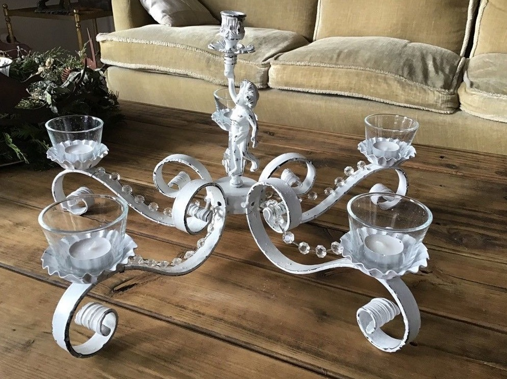 Tischdeko Kerzenhalter Teelichthalter Shabby Trodelmobel