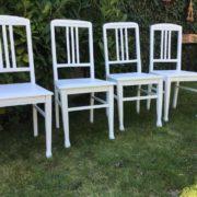 4 Stühle, Holzstühle (shabby, Jugendstil)