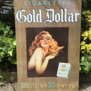 Blechschild Gold Dollar