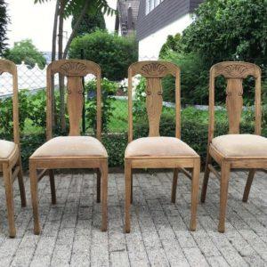 4 antike Stühle, Sitzgruppe (Jugendstil)