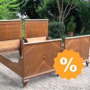 2 Holzbetten (Antiquität, Jugendstil)
