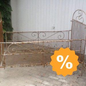 Antikes Eisenbett, Tagesbett (Jugendstil)
