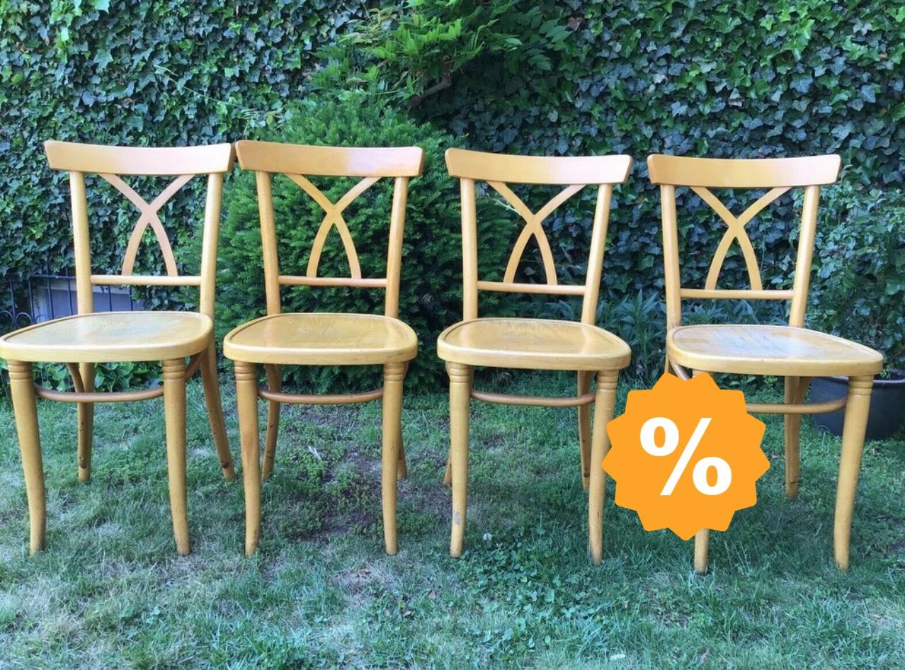 4 Alte Stuhle Holzstuhle Shabby Landhausstil Troedelmoebel Com