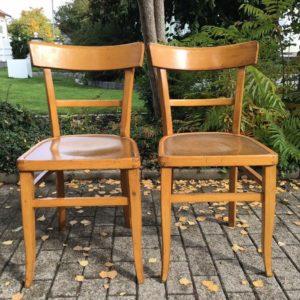 2 Stühle, Holzstühle, Küchenstühle
