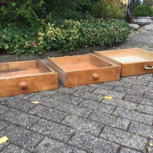 3 alte Holzschubladen, Aufbewahrungsboxen (Shabby)