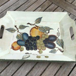 Holztablett, Serviertablett (Shabby, Vintage, Dekoration)