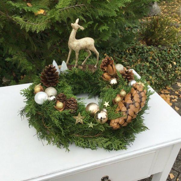 Adventskranz, Dekoration, Tischdeko, Weihnachtsdeko