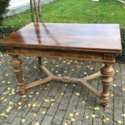 Ausziehbarer Esstisch, Holztisch (Antiquität)