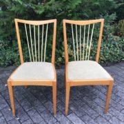 2 Bähre Stühle mit Sprossenlehne (40er/50er Jahre, Vintage), Holzstühle