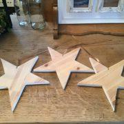 3 große Holzsterne (shabby-weiß / braun / natur), Fensterschmuck, Weihnachtsdekoration