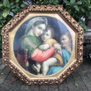 Altes Bild, Bilderrahmen aus Holz (Antiquität, shabby)