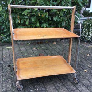 Zusammenklappbarer Servierwagen, Beistelltisch (Vintage)