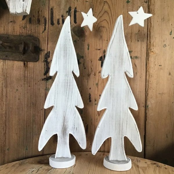Handgefertigter Tannenbaum, Weihnachtsdeko (Shabby, Landhaus)