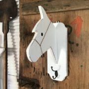 Garderobe, Pferd, Kleiderhaken (Shabby, Landhausstil)