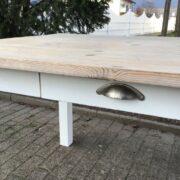 Esstisch, Holztisch, Tisch mit Schubladen (Shabby-chic, Landhaus)