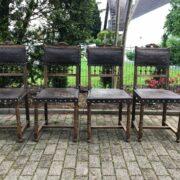 4 Antike Stühle, Holzstühle, Esszimmerstühle (Gründerzeit, Antiquität)