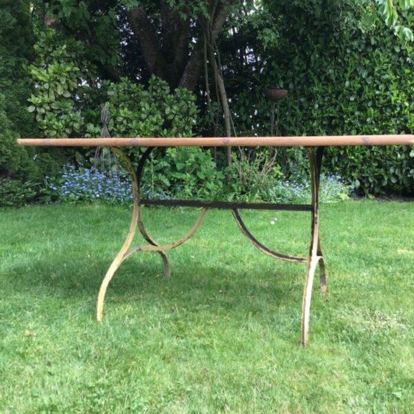 Gartentisch, Metallgestell, Tisch (Shabby, Landhausstil)