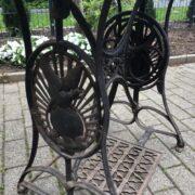 Antike Nähmaschine von Vogel, Nähmaschinengestell (Shabby, Deko)