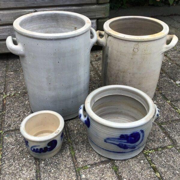 Schmalztöpfe, Topf, Steingut Töpfe (Shabby, Landhausstil)