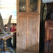 Antiker Wäscheschrank, Kleiderschrank, Holzschrank, Garderobenschrank (Jugendstil)