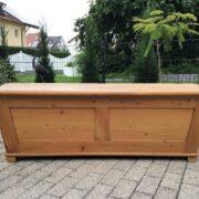 Große Truhe, Holzkiste, Aufbewahrung (Antiquität, Vollholz)