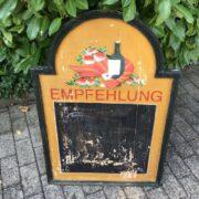Alte Menütafel, Gastrotafel, Kreidetafel, Dekoration (Shabby, Landhaus)