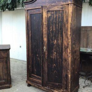 Kleiderschrank, Holzschrank, Schrank, Scheunenfund (Antiquität)